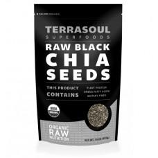 HF-RG04322  Terrasoul Superfoods- Chia Seeds (Black), Organic, Raw 有機(黑)奇亞籽, 生機 (l.5 lb)