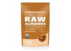 HF-RG06403 Terrasoul Superfoods- Almonds, Organic, Raw 有機杏仁, 生機 (1 lb)
